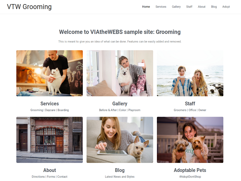 VtW Grooming Example Site