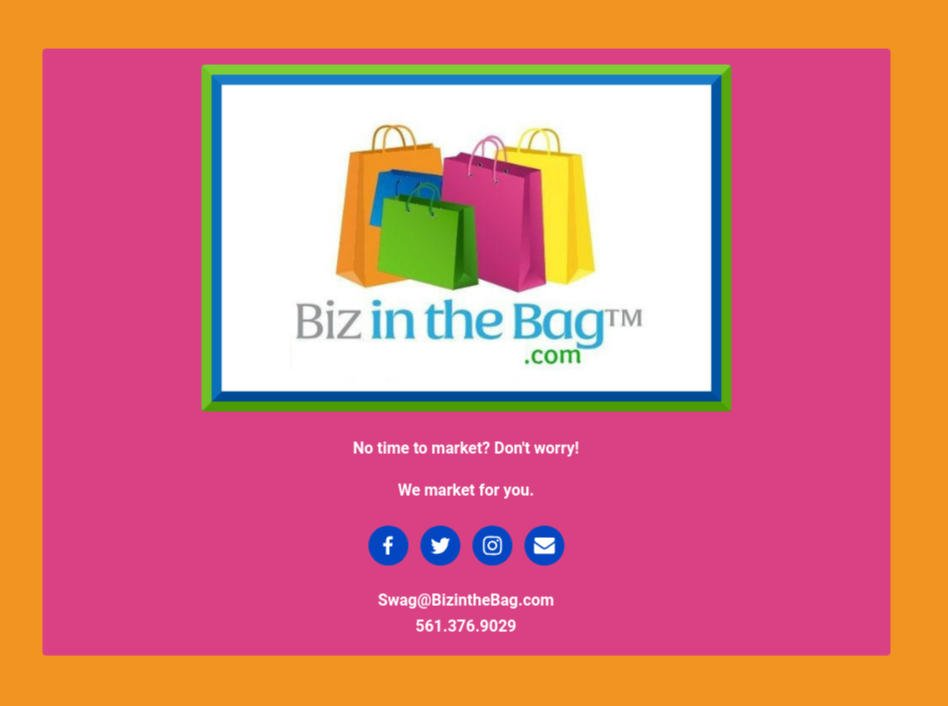 Biz In The Bag SWAG Bag Advertising