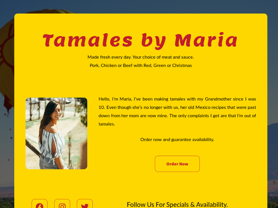 Tamales by Maria