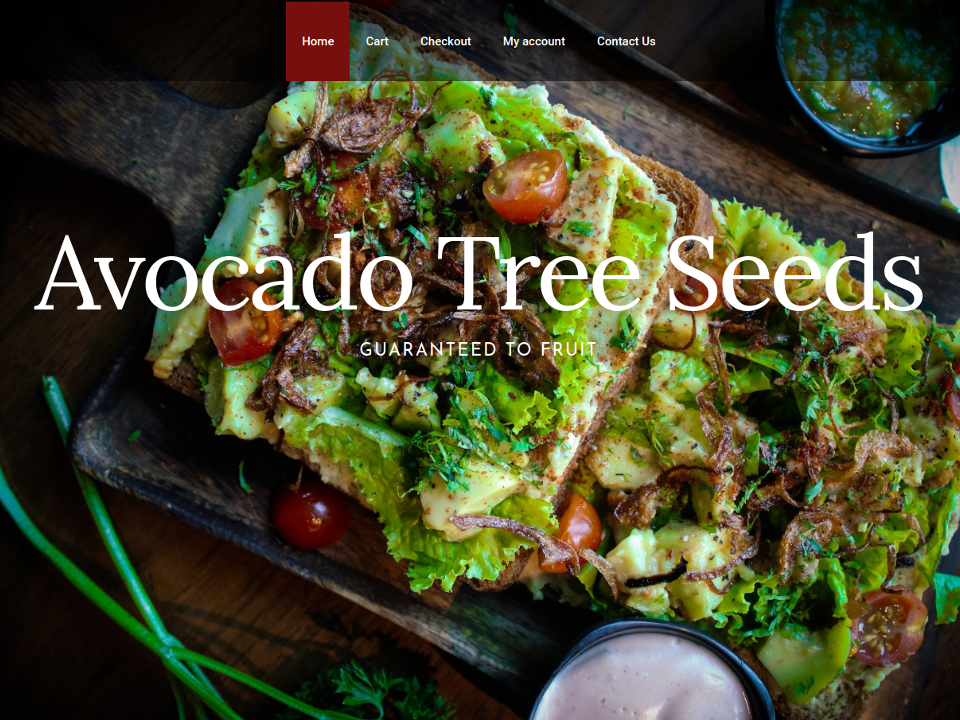 Avocado Tree Seeds Website eCommerace